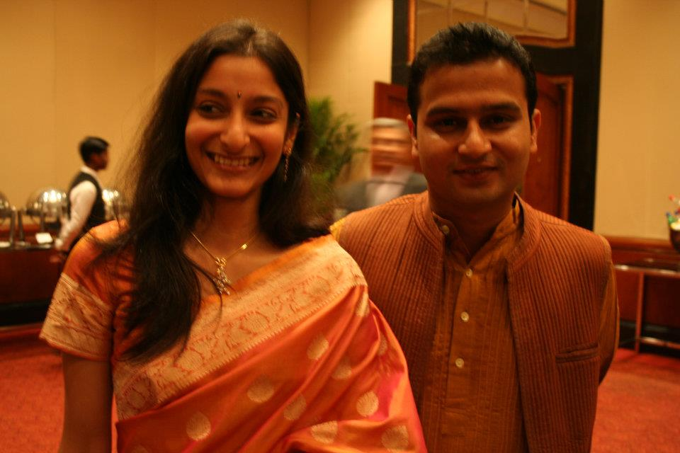 Rajat Agarwal(Son in Law) and Nupur(daughter)