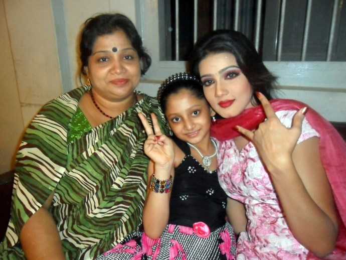 Puja Cherry Roy with her Mother