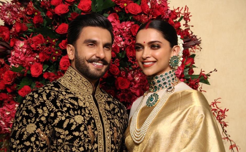 Deepika Padukone Ranveer Singh Wedding Reception Photos